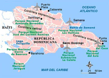 Map of the Dominican Republic